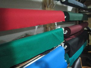 Pool table recovering cloth options