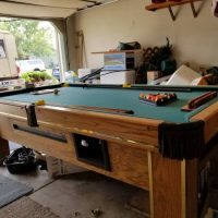 Brunswick Oak Pool Table