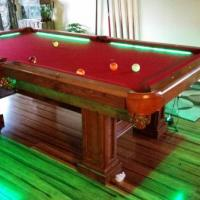 Custom Built Pool Table with LED Lighting