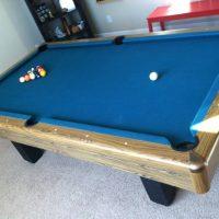 Nice Blue Felt Pool Table
