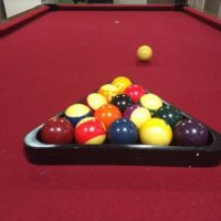 Pool Table Full 8-ball Set With Cue Ball