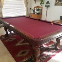 Connelly Billiards Table Red Felt